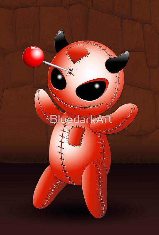 Quot Voodoo Doll Evil Devil Cartoon Quot By Bluedarkart Redbubble