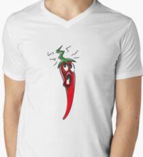 HOTTTTTT red chilli Mens V-Neck T-Shirt