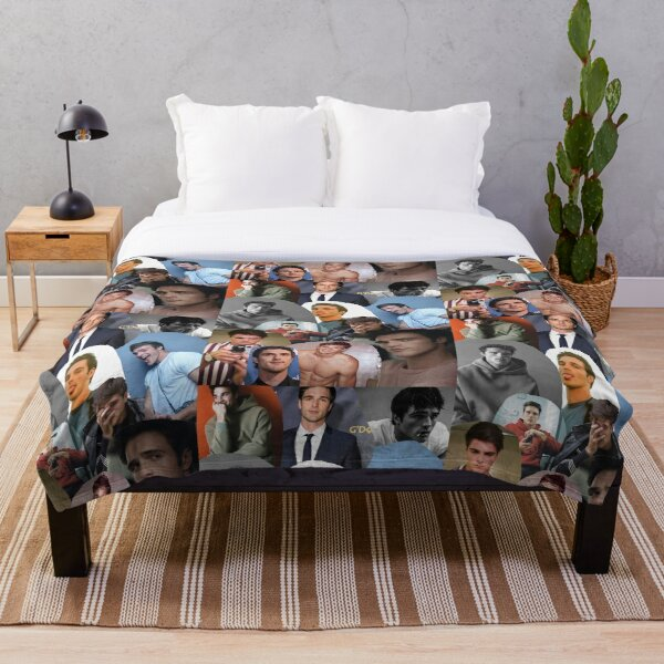 Jacob Elordi Collage  Throw Blanket