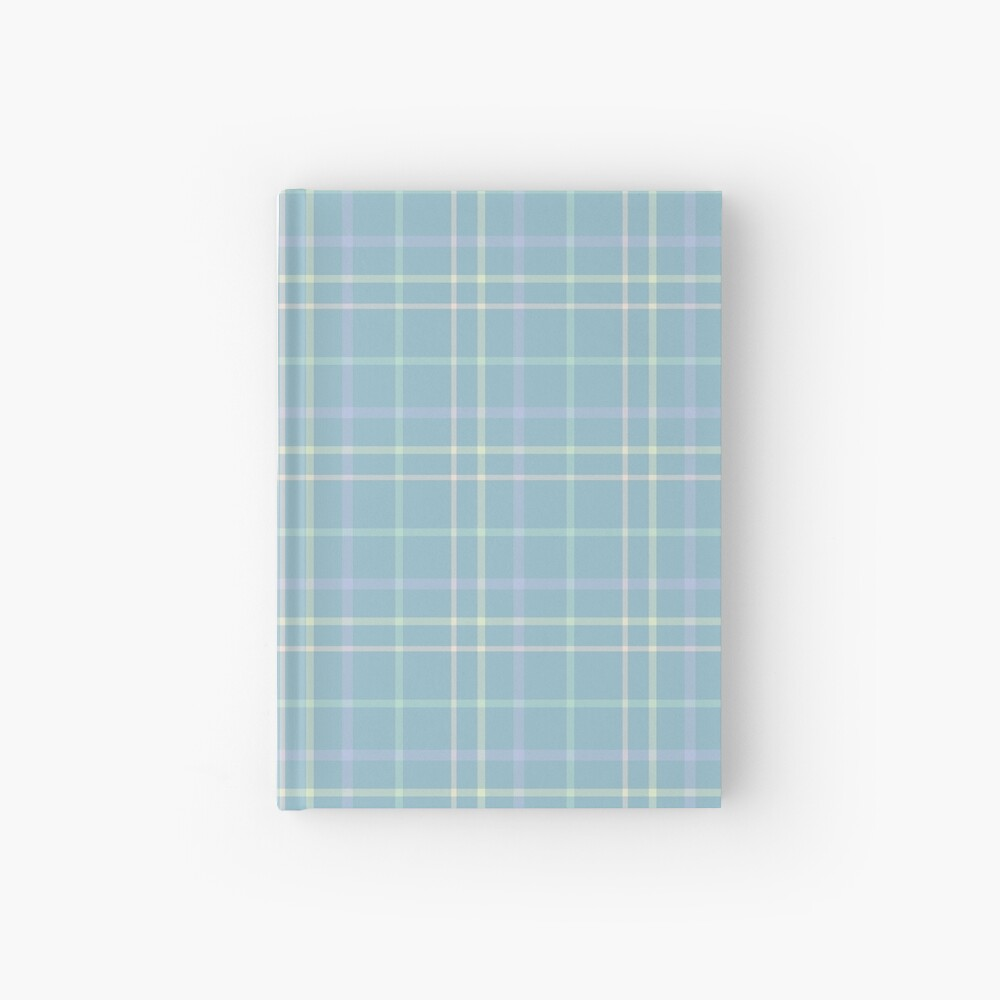 Modern Pastel Plaid Pattern Hardcover Journal