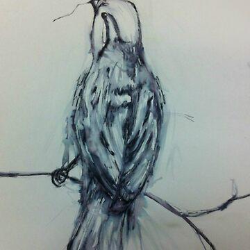 Inky Sparrow by Nettie121