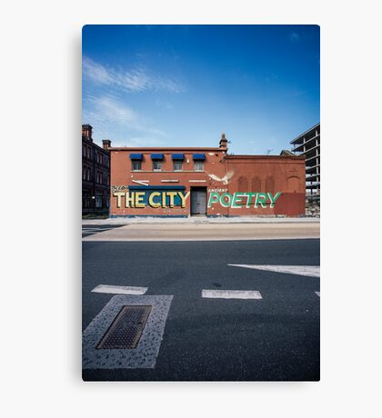 The City, Graffiti Canvas Print
