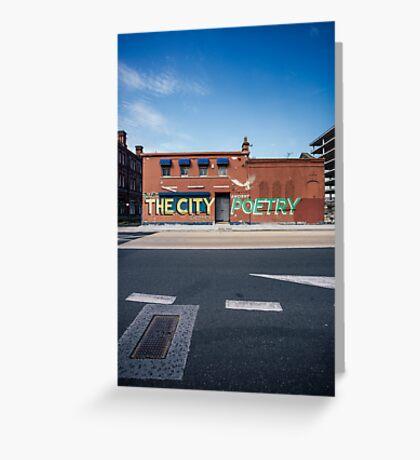 The City, Graffiti Greeting Card