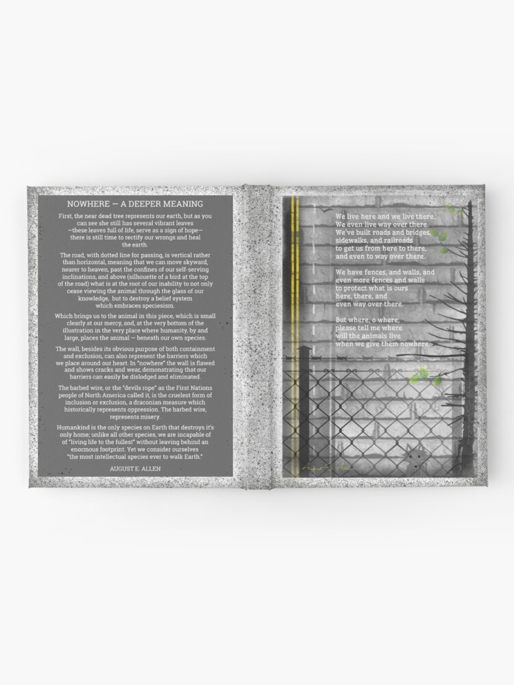 Alternate view of nowhere Hardcover Journal