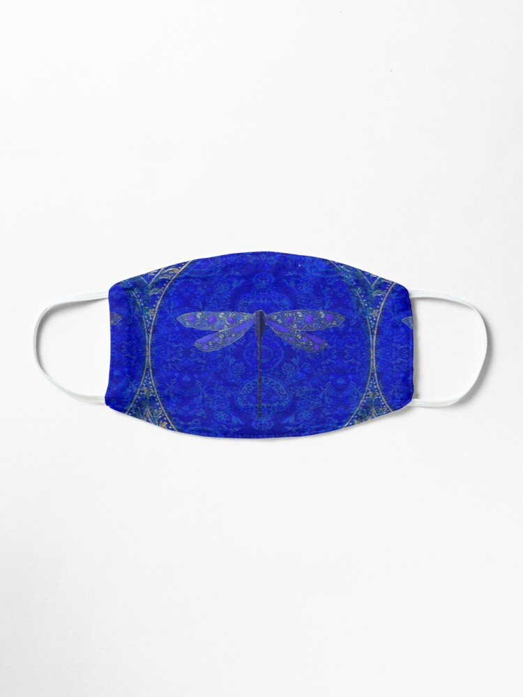 Alternate view of Victorian Dragonfly in Blue Mask