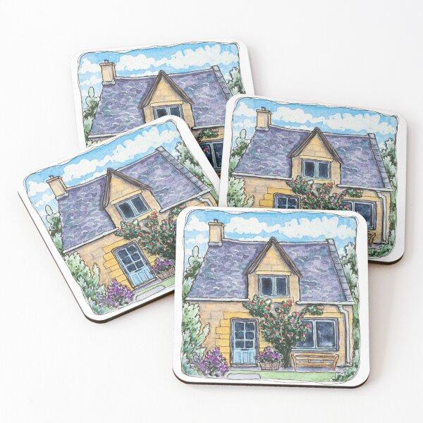 Tiny cottage Coasters (Set of 4)