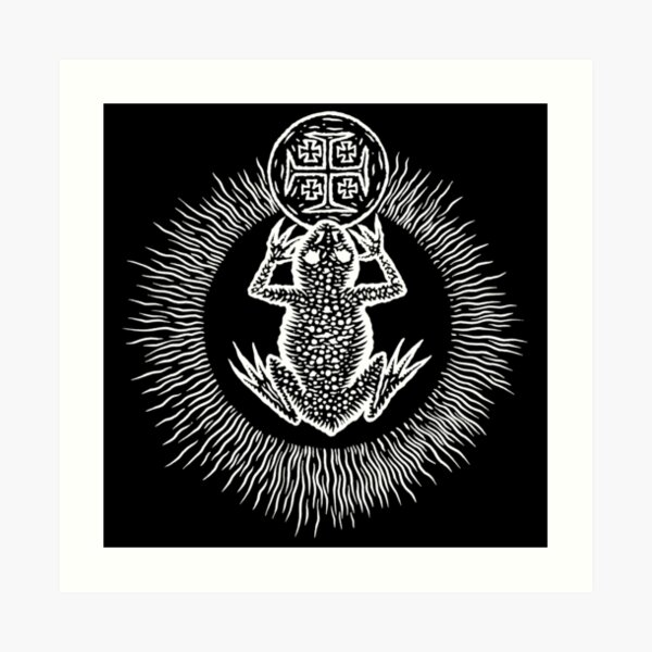 The Witches' Sacrament (white on black) by Gemma Gary Art Print