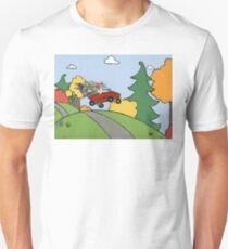 Awesome Bunny Wagon Ride Unisex T-Shirt