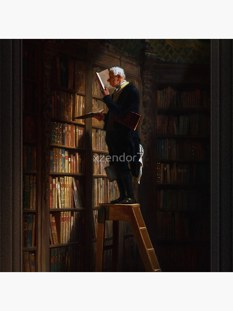 The Bookworm by Carl Spitzweg Old Masters Fine Art Reproduction by xzendor7