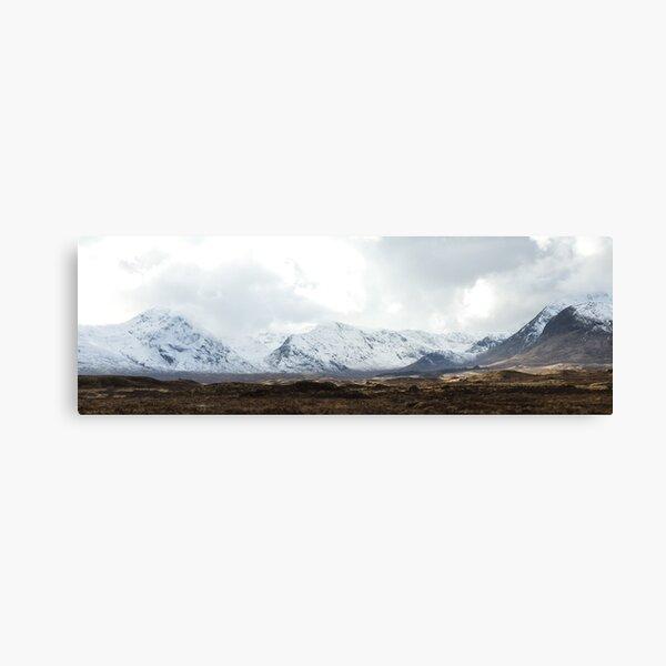 Panorama - Blackmount, Scotland Canvas Print