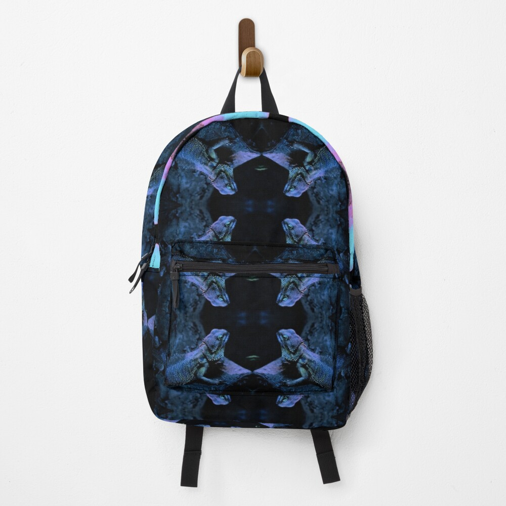 Psychedelic Bearded Dragon Pattern Backpack