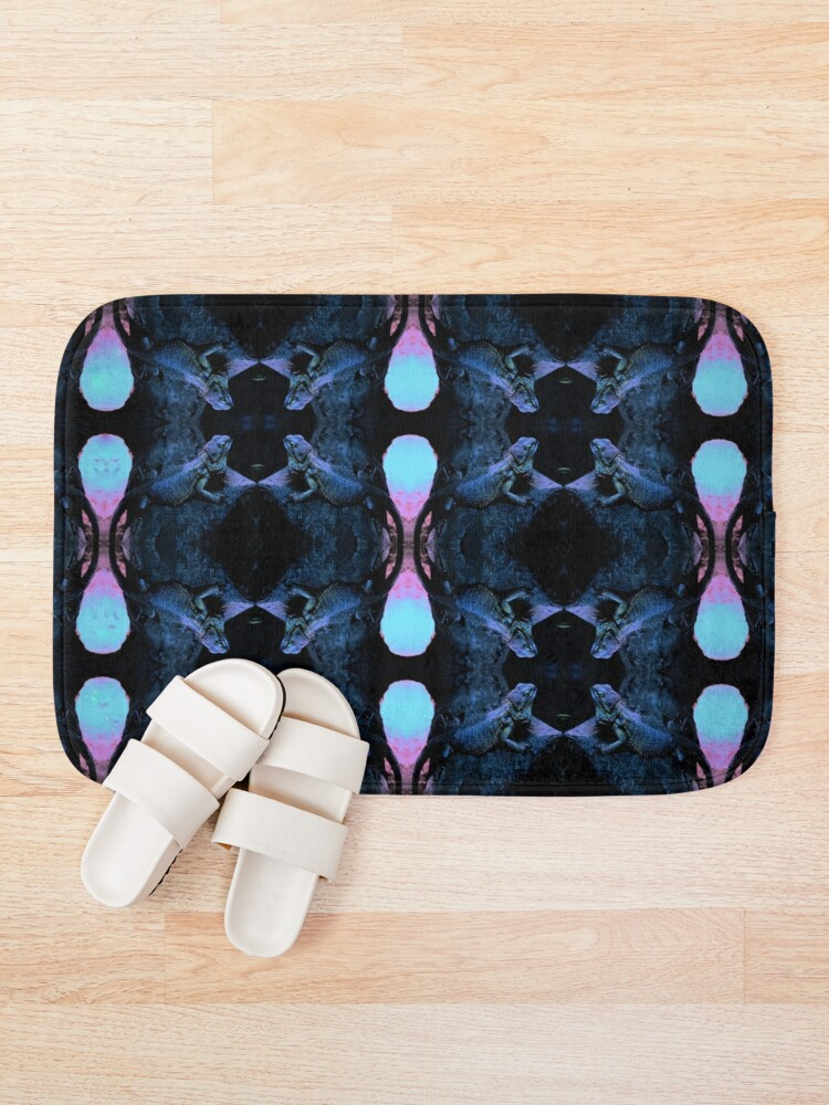 Alternate view of Psychedelic Bearded Dragon Pattern Bath Mat