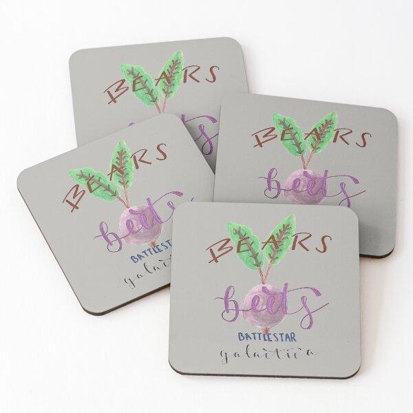 Bears, beets, Battlestar Galactica  Coasters (Set of 4)