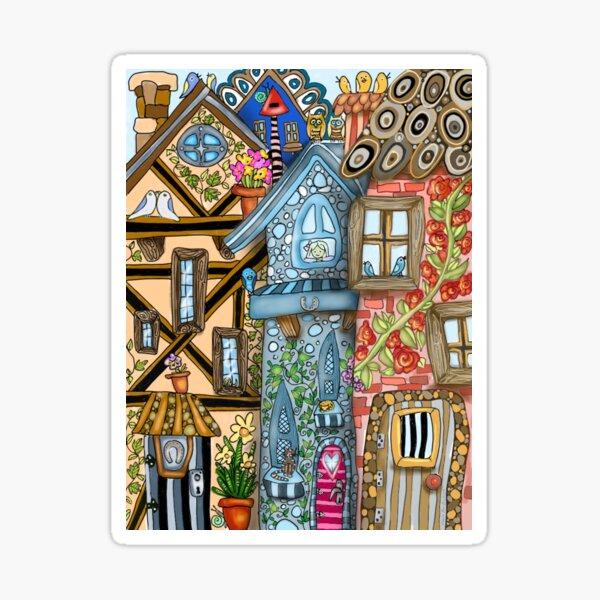 Village Houses Sticker