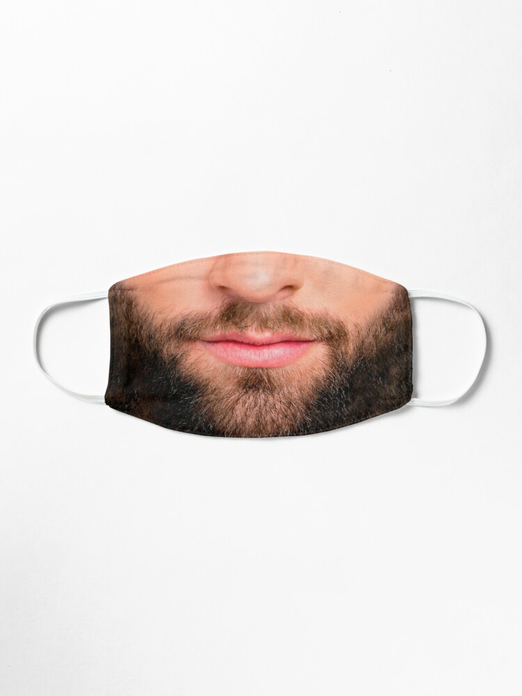 Alternate view of Handsome beard man mask (realistic face) Mask