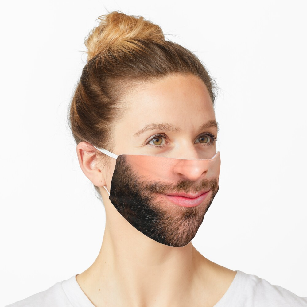 Handsome beard man mask (realistic face) Mask
