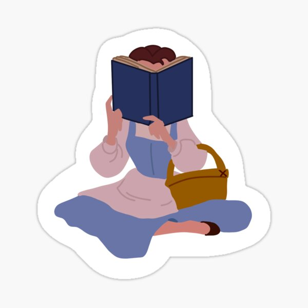 Belle Reading  Sticker