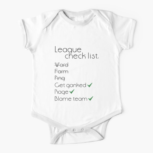 Lista de verificación de la liga Body de manga corta para bebé