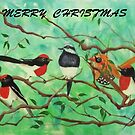 CHRISTMAS JOY BIRDS by jansimpressions