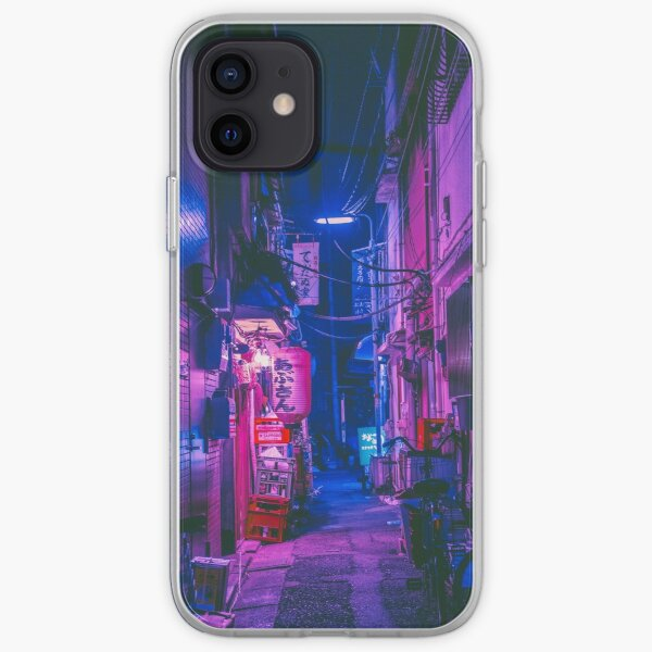 The Neon Alleyway Ghost iPhone Soft Case