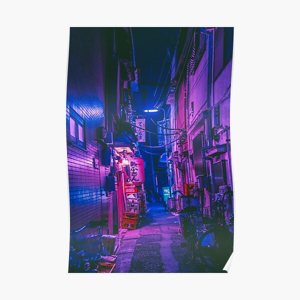 The Neon Alleyway Ghost Poster