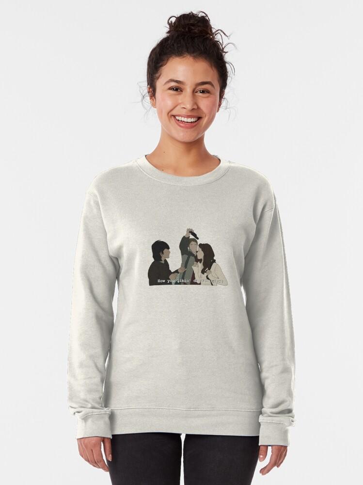 Alternate view of How you likin da rain girl Pullover Sweatshirt