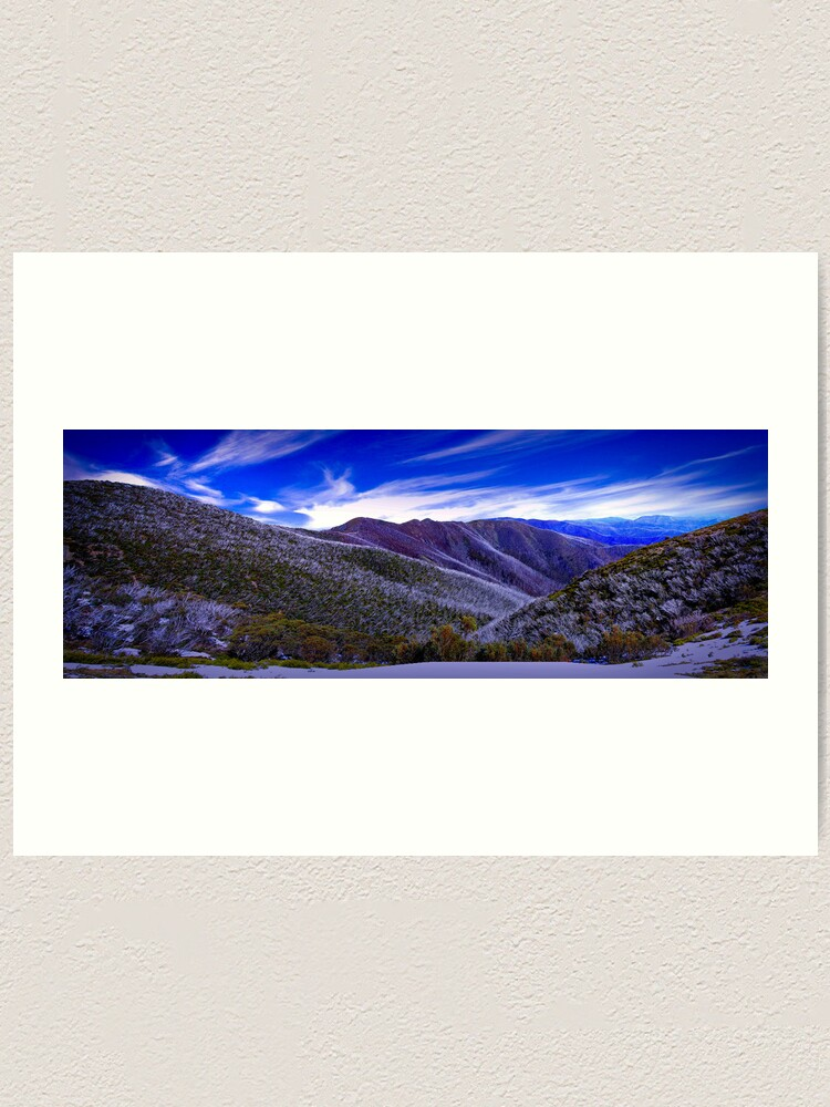 Alternate view of A View from Federation Hut, Victoria, Australia Art Print