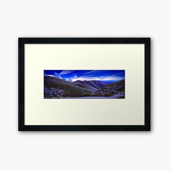 A View from Federation Hut, Victoria, Australia Framed Art Print