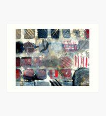Squares of experimentation Art Print