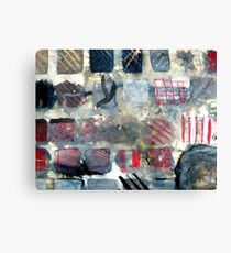 Squares of experimentation Canvas Print