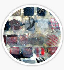 Squares of experimentation Sticker