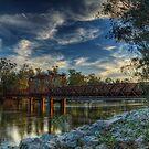 Tocumwal Railway Bridge At Sunset by djzontheball