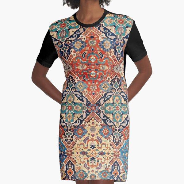 Nigde Persian Carpet Print Graphic T-Shirt Dress
