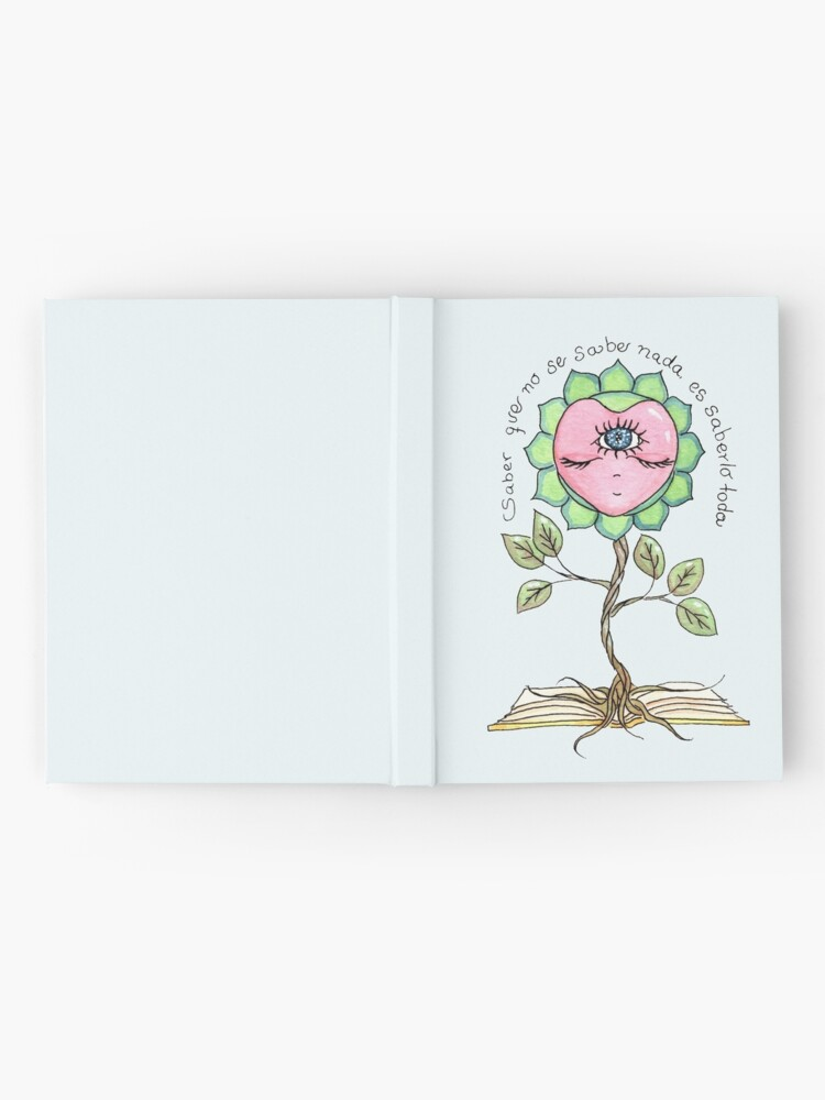 Alternate view of KNOWING THAT NOTHING IS KNOWN, IS KNOWING EVERYTHING. - Blue Hardcover Journal
