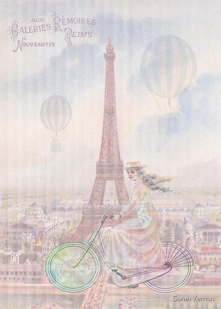 Bicycling through Paris by Sarah Vernon