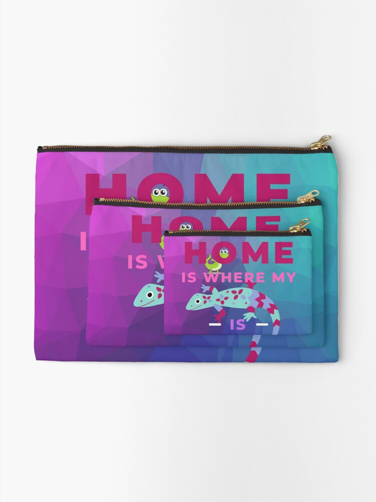 Alternate view of Home Is Where My Lizard Is Zipper Pouch