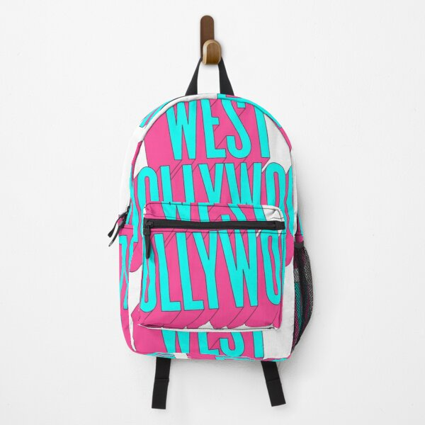West Hollywood California 3D Neon Retro Backpack