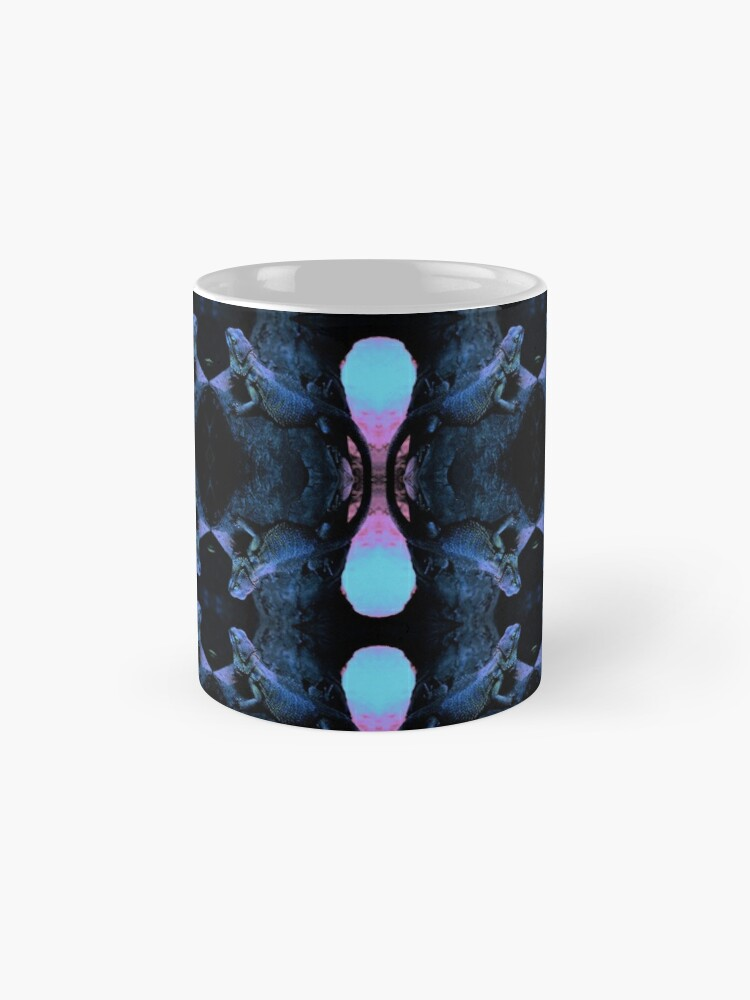 Alternate view of Psychedelic Bearded Dragon Pattern Mug
