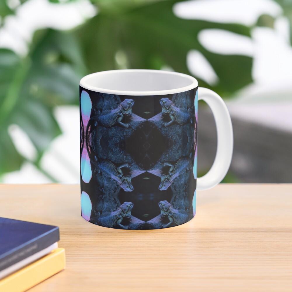 Psychedelic Bearded Dragon Pattern Mug