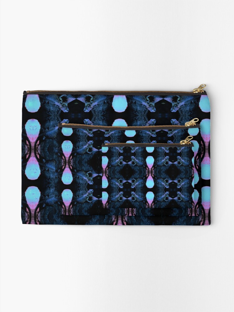 Alternate view of Psychedelic Bearded Dragon Pattern Zipper Pouch
