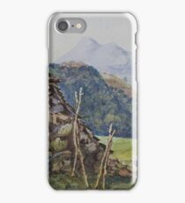 Watercolour of Mael Siabod & Snowdon from Betws y Coed, 1874 iPhone Case/Skin