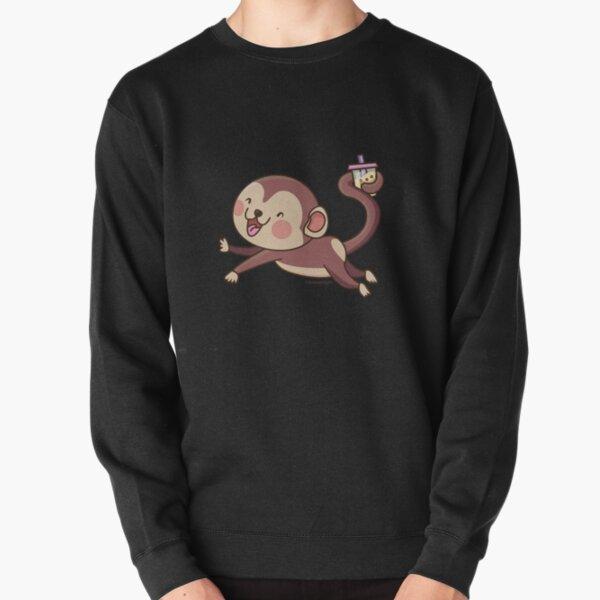 Cute Boba Monkey Pullover Sweatshirt