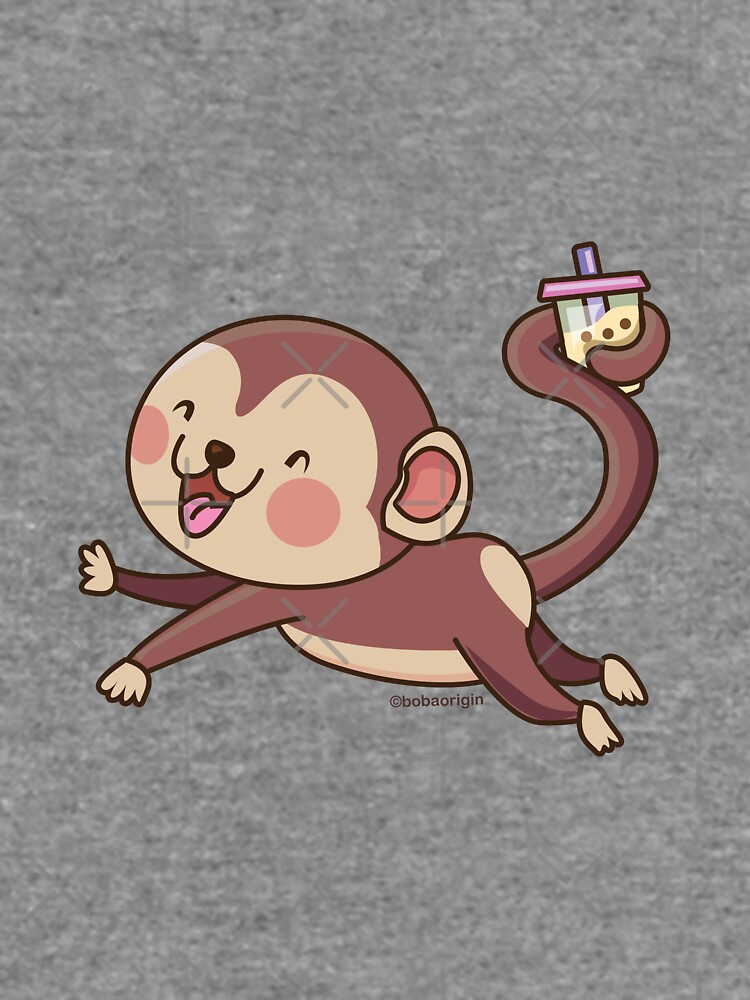 Cute Boba Monkey by BobaOrigin