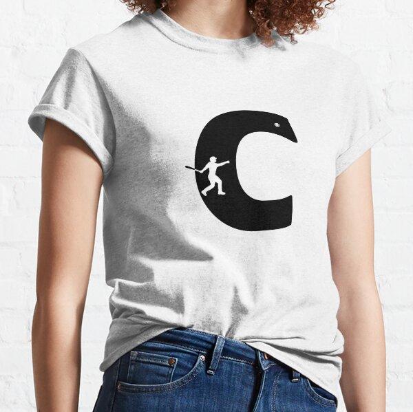 Personalized Baseball Initial C Classic T-Shirt