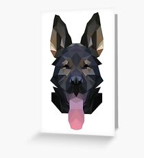 Low Poly German Shepherd Greeting Card