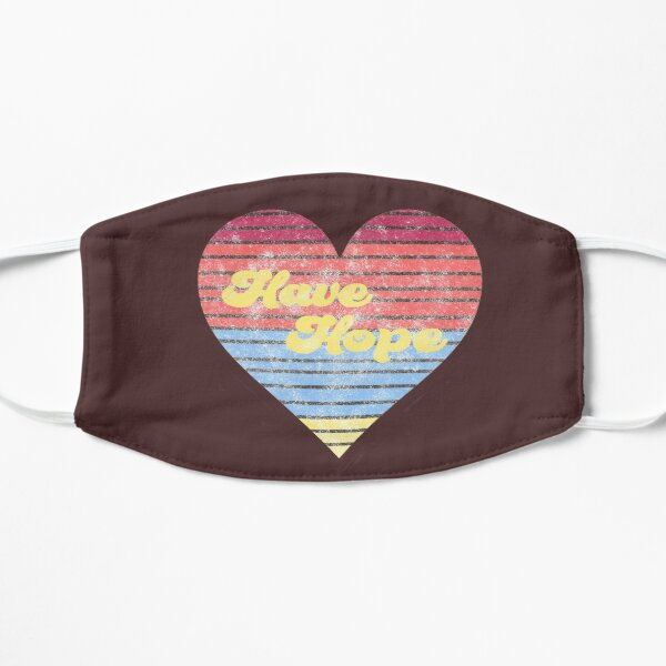 Have Hope Heart - Cute Distressed Grunge Retro 70s Style Mask