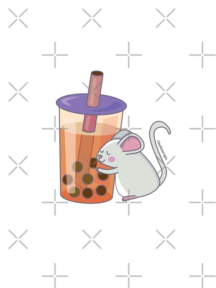 Chinese Zodiac Rat w/ Boba by BobaOrigin
