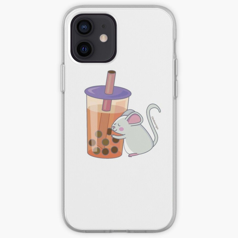 Chinese Zodiac Rat w/ Boba iPhone Case & Cover