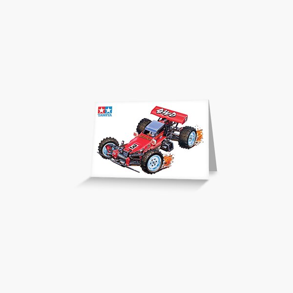 Retro RC 4WD buggy Greeting Card