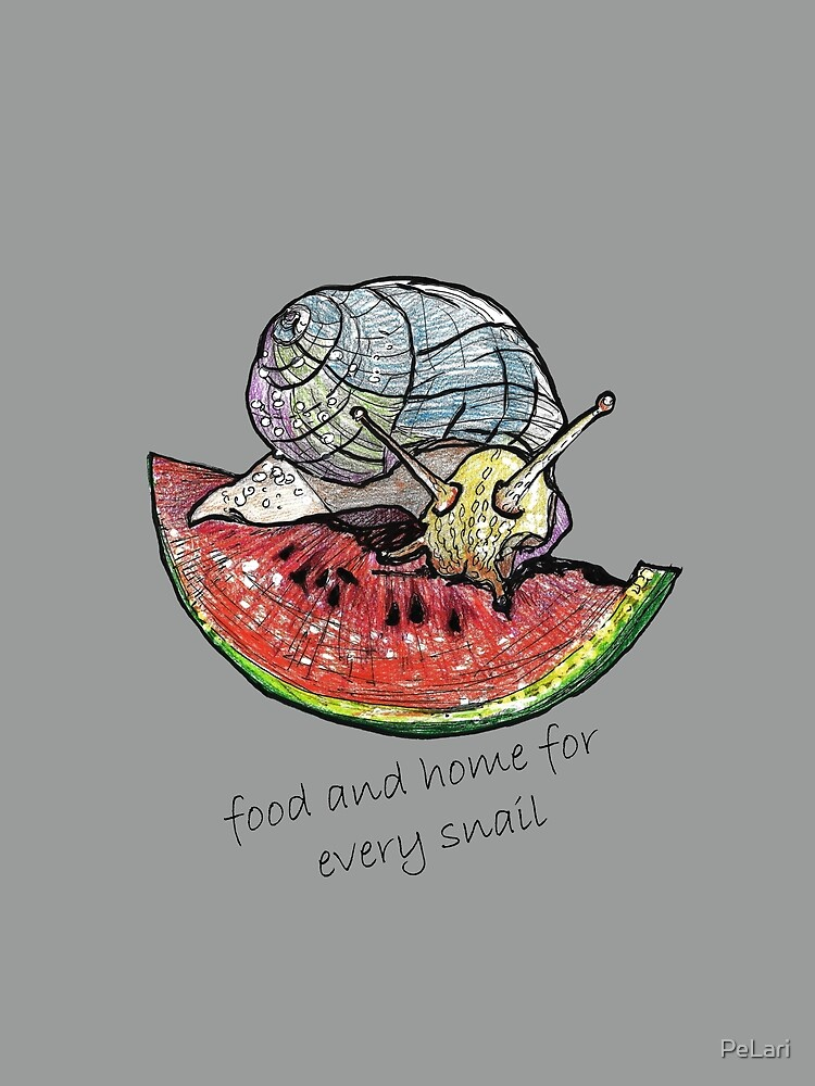Snail eating watermelon by PeLari